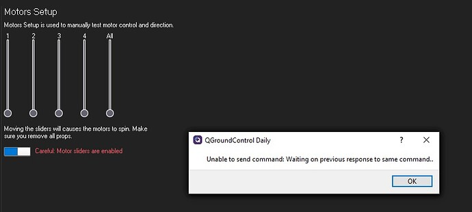unable to send command
