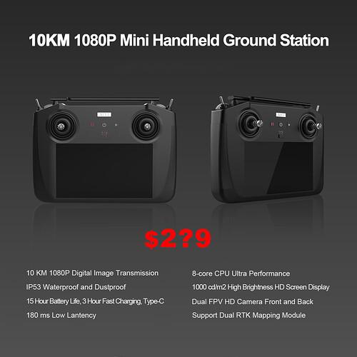 10 KM 1080P Mini Handheld Ground Station