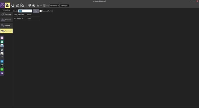 Parameters List Screenshot
