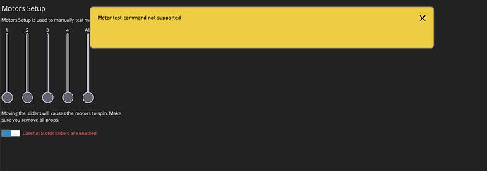 MotorCommandNotSupported