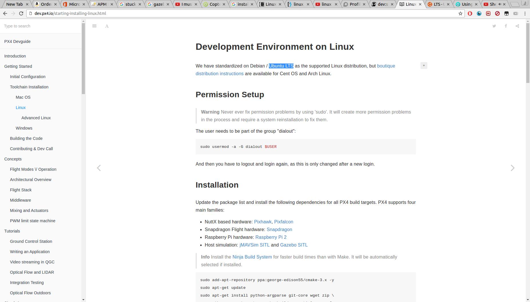 Px4 (DroneKIT, Gazebo, SITL) development compatibility