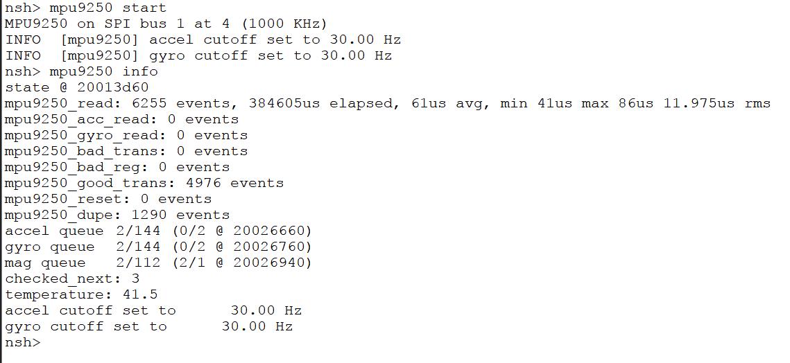 MPU9250 internal temperature reading seems to be incorrect - Flight