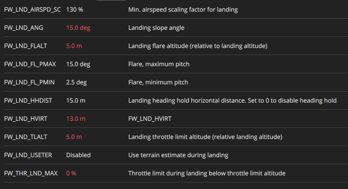 How to make landing mode softer - Configuration and Flight Modes