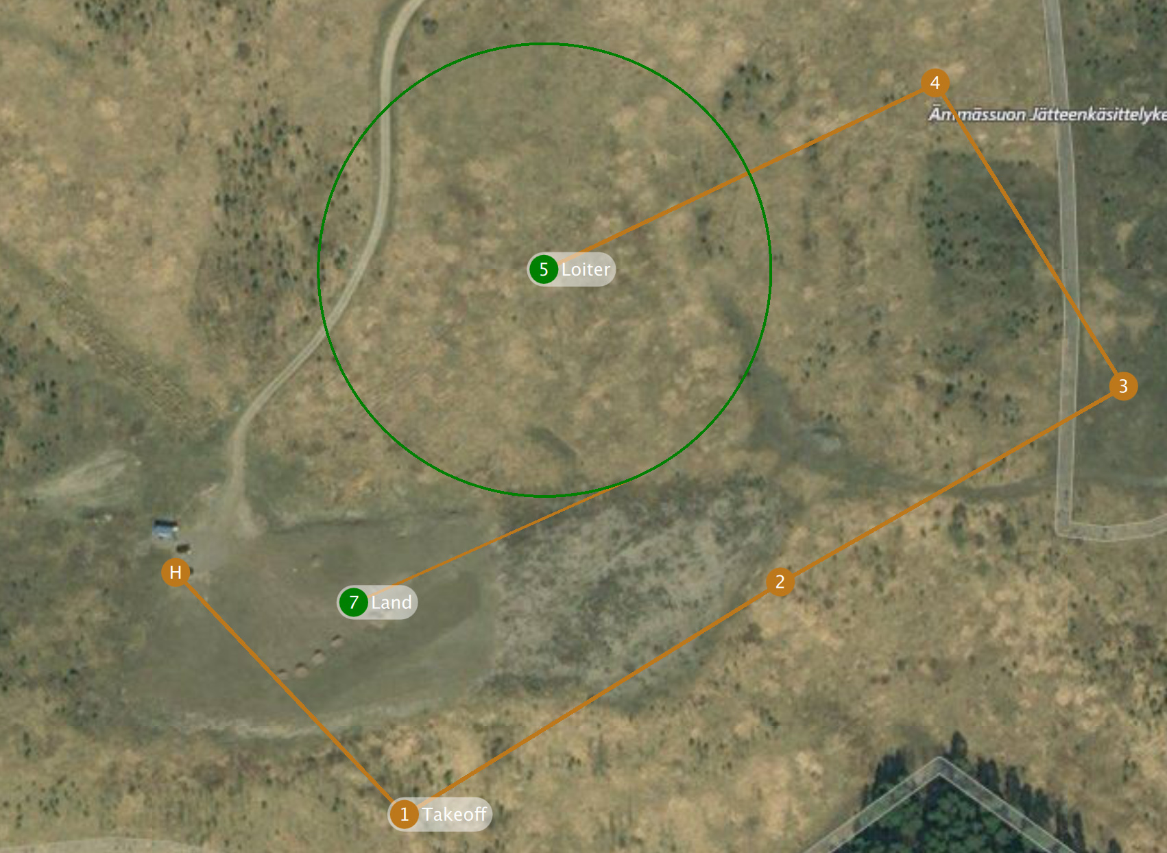 Mission rejected: waypoint within landing flare - QGroundControl